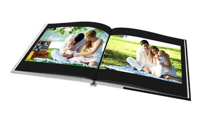 "11"" x 8"" Medium Landscape Imagewrap Hardcover Photobook, 40 Pages"